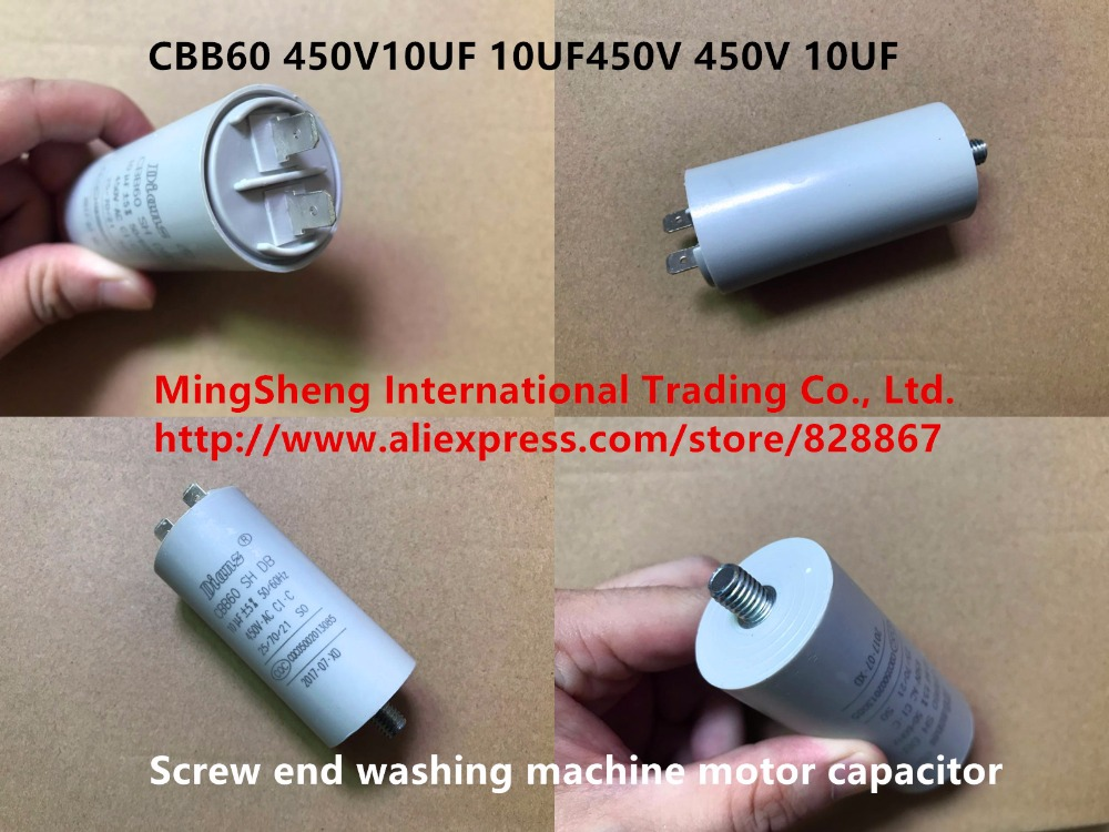 Original new 100% <font><b>CBB60</b></font> 450V10UF 10UF450V <font><b>450V</b></font> <font><b>10UF</b></font> screw end washing machine motor <font><b>capacitor</b></font> (Inductor) image