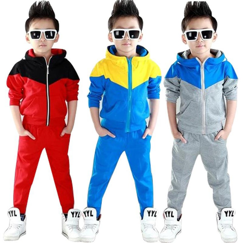 Kids Clothes Boys Sets Long Sleeve Autumn Outfits 2017 Tracksuit Spring Hooded Fashion Children Clothing Sports Suits For Boy 2017 new style spring autumn hoodie baby girl clothing set sequin lace long sleeve velour sports jacket long trousers outfits