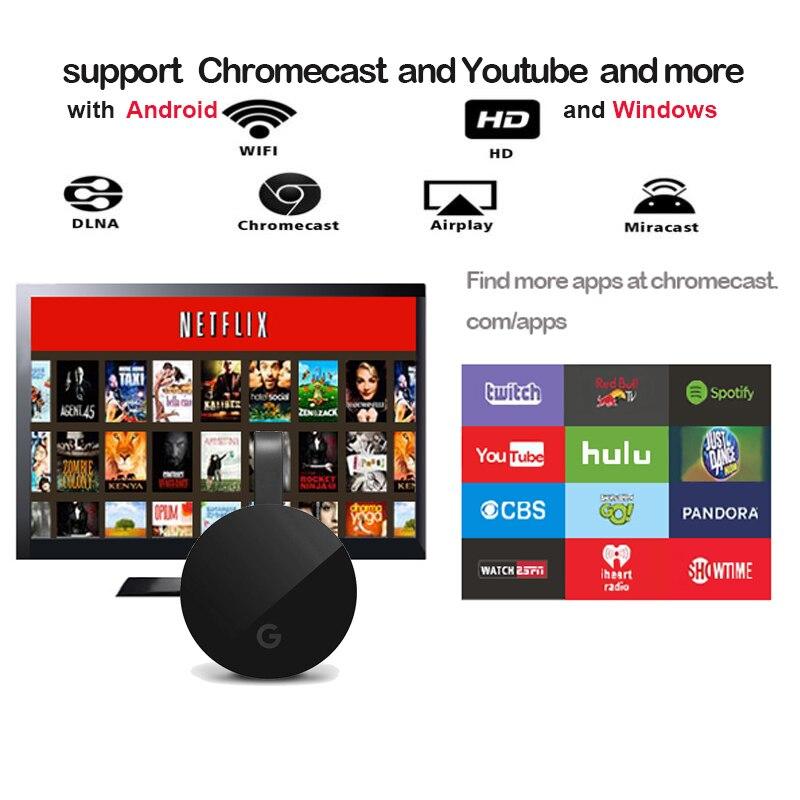Caliente HFLY yehua google chromecast 4 1080 p WiFi hdmi dongle tv stick Android netflix cromo fundido cromecast mircast/ airplay/dlna