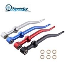 ESPEEDER Racing Dual Bend Curve Throw Shift Shifter Short Quick For Honda Civic EG EK EM 1988-2000 CRX 1988-1991