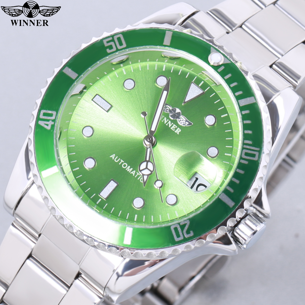 2018 WINNER Mechanical Watches Men Waterproof Full Automatic Watch Male Clock With Date Calendar relojes automaticos para hombre