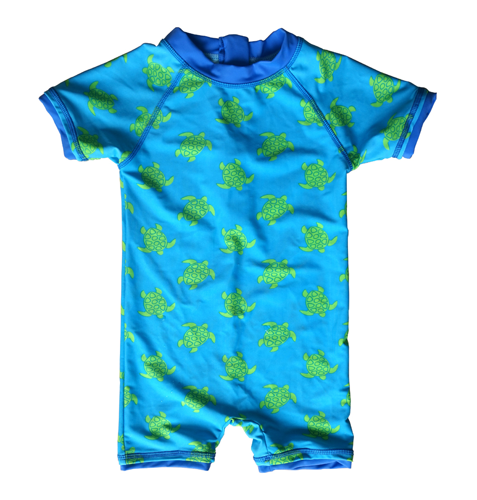 Baby Boys Sunsuit UPF 50 White,3-6Months Sun Protection All in One with Zipper Swimwear with Sun Hat