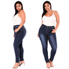 Women Plus Size High Waist Skinny Denim