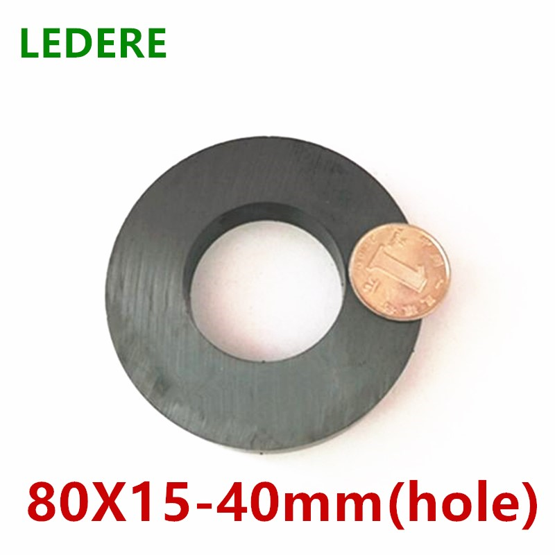 1pcs/2pcs Ring Ferrite Magnet D 80*15 mm Hole 40mm Black Round Speaker D 80X15 mm Magnet with hole 40MM 80mm x 15mm ring ferrite magnet 3pcs pack dia60 32x10mm 60 10 32mm black magnet