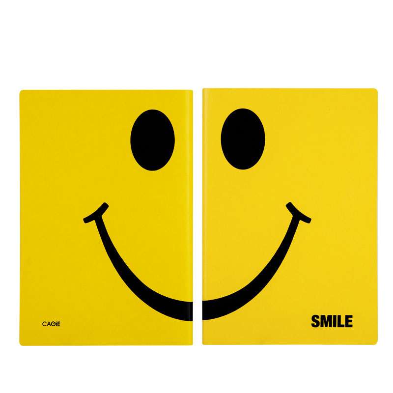 Cute A5 Faux Leather Notebook Smile Laugh Personal Daily Planner Organizer Notepad Travel Journal Business Office Agenda Books 5 туника smile