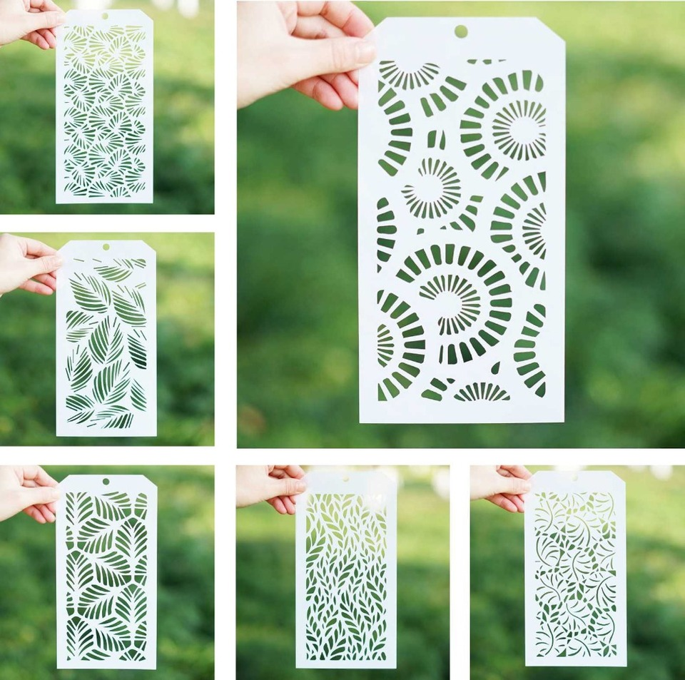 Polka Dot DIY Decorative Stencil Template for Scrapbooking Painting on Wall Furniture Crafts Set of 6