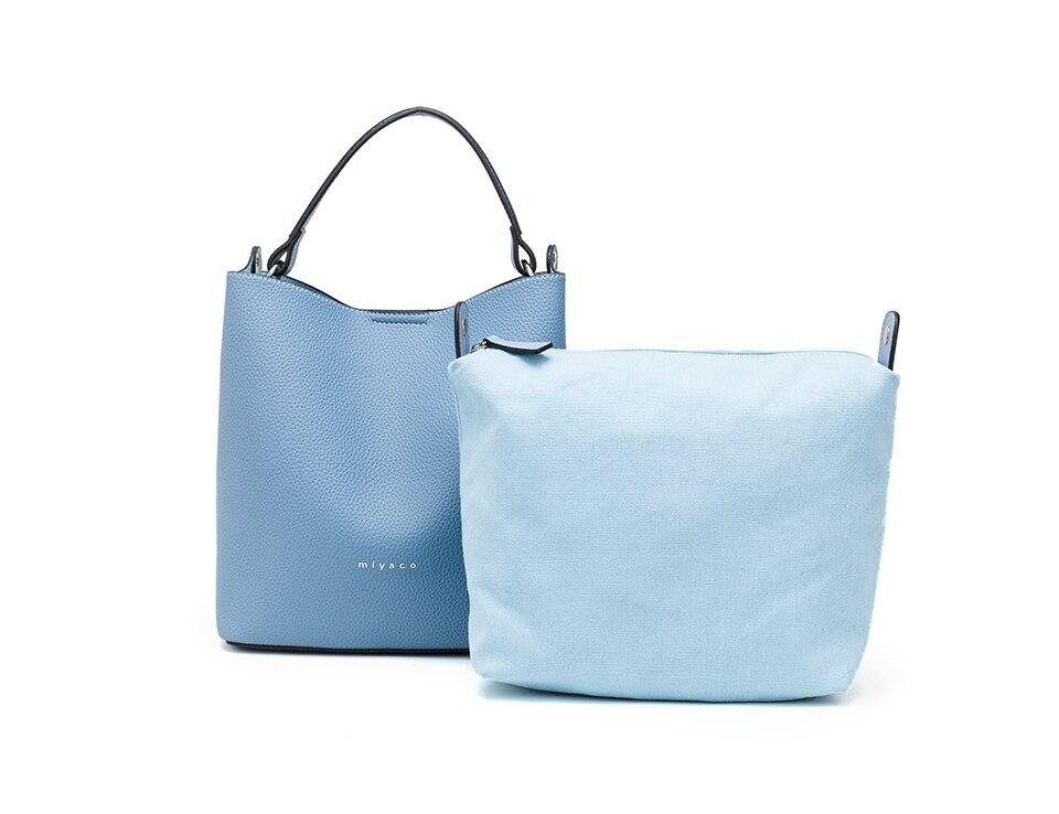Miyaco casual bolsa feminina balde saco de