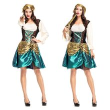 COSMORE Sexy Women Pirate Costume Halloween Fancy Party Carnival Performance Dress