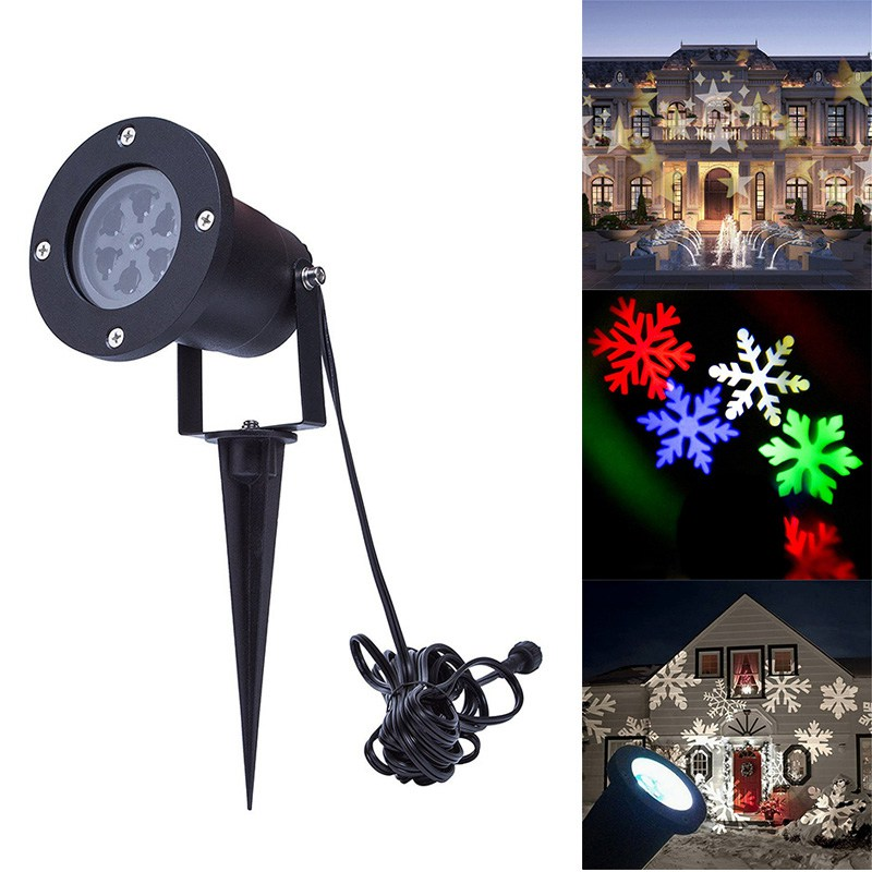 Multi-color LED Projector Light Moving Snowflake Star Landscape Laser Spotlight Christmas Party Lights Projecteur Noel ExterieurMulti-color LED Projector Light Moving Snowflake Star Landscape Laser Spotlight Christmas Party Lights Projecteur Noel Exterieur