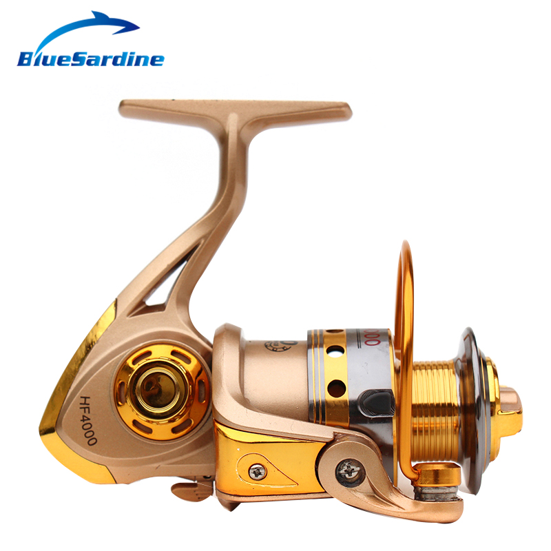 New Spinning Reel Fishing pesca coil Fishing Reel Golden Metal Spool - Fishing - Photo 2