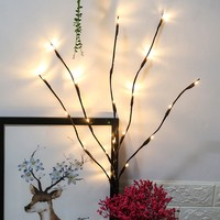 LED Willow Branch Lamp Floral Lights 20 Bulbs Home Party Garden Decor Christmas Birthday Gift gifts Desktop Decoration Lights 2