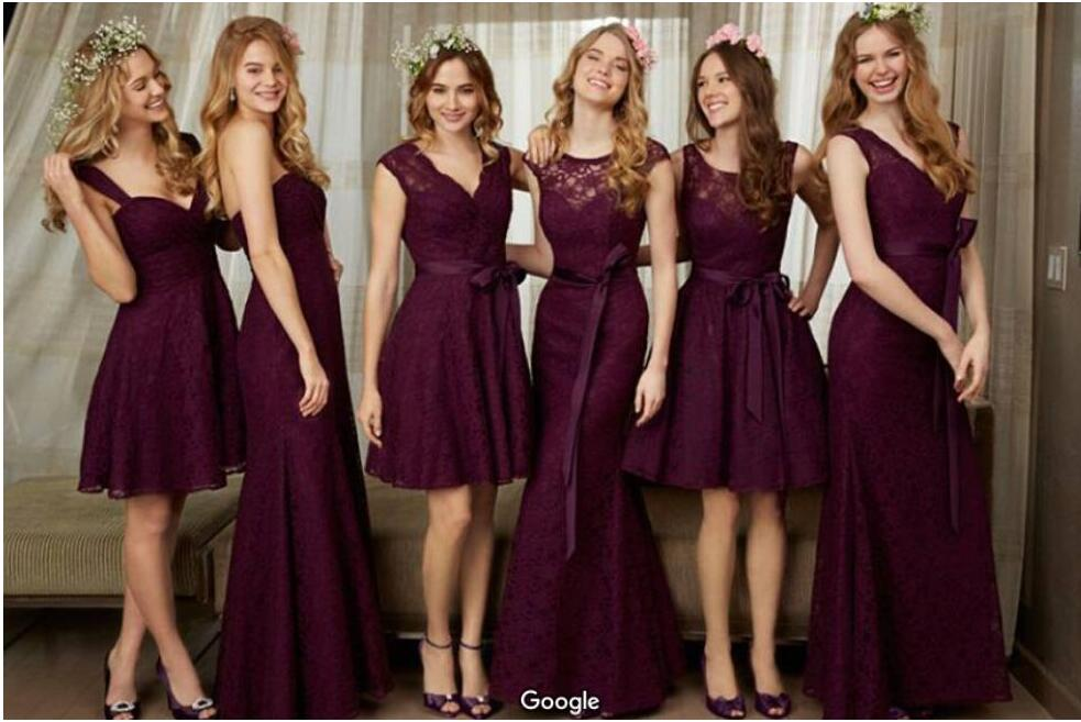 Compra Beige Vestidos De Dama De Honor Online Al Por Mayor: Compra Púrpura Vestido De Dama De Honor Online Al Por