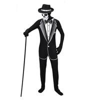 Halloween Cosplay Costume Skeleton Male Men Suit Masquerade Carnival Skulls Gentleman Businessman Role Playing Costume