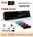 Livre 16 GB Cartão! grande potência Sardine HIFI Speaker Portátil Bluetooth 10 w Rádio FM USb Amplificador Caixa de Som Estéreo com microfone sem fio