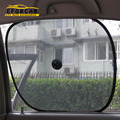 New Style Car Auto Foldable Black Side Window Screen With Suction Cup Mesh Fabric Cover Solar Protection Free Shipping EA1056