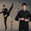 2017 Sale Hot Sale Freeshipping Regular Flat Male Fashion Stand Collar Suits Business Casual Dress Chinese Dragon Suit Slim