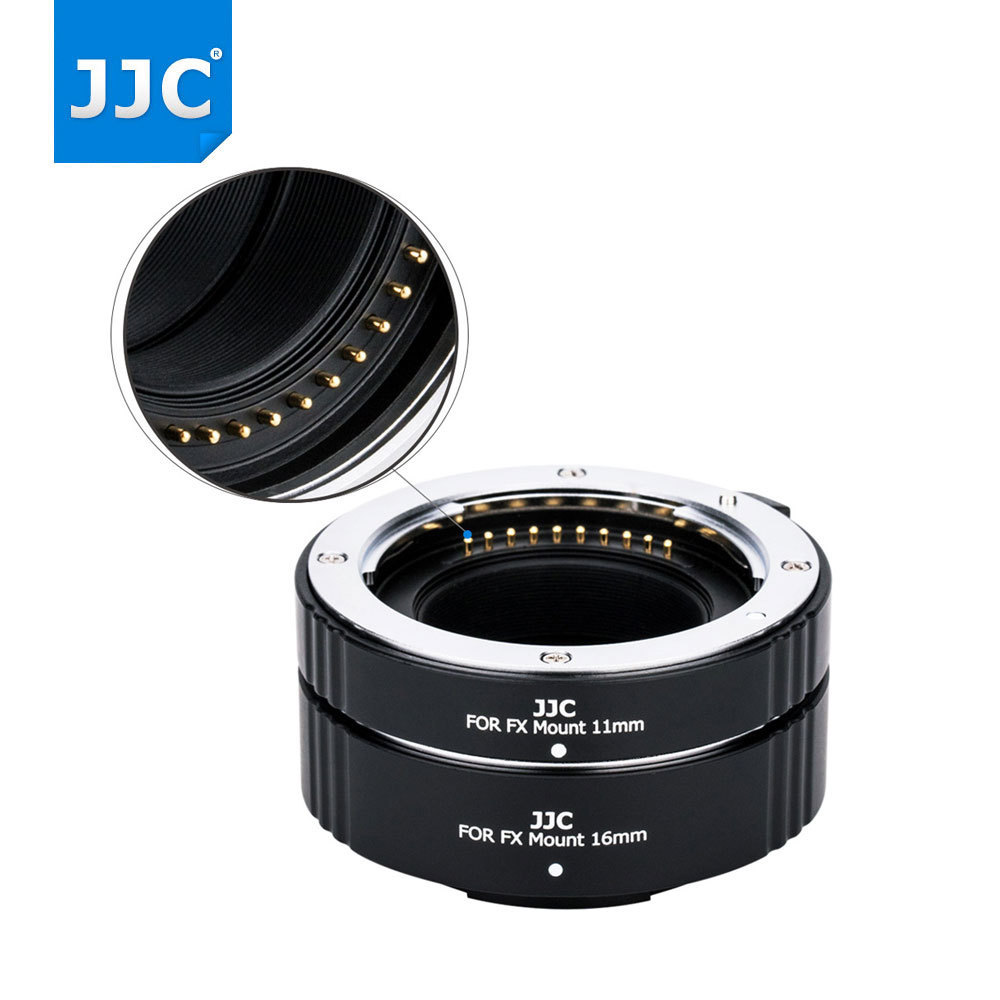 JJC tube d'extension automatique 11mm 16mm bague d'adaptation pour appareil photo Fujifilm X Mount X-A1/X-A2/X-A3/X-Pro2/X-Pro1/X-M1/X-T10/X-T20/
