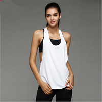 High Quality Summer Sexy Fitness Clothes 2017 Women Tank Tops Loose Workout Sleeveless Quick Dry Vest