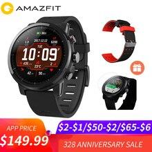 $5 купон Huami Amazfit Stratos Smart темп 2 спортивные умные часы 5ATM водостойкий 1,34 »2.5d экран gps Xiaomi Часы Smartwatch