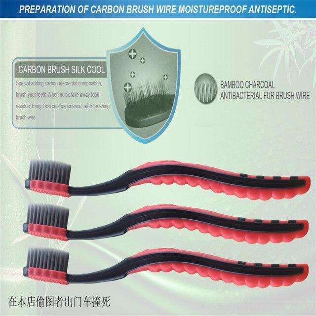 Bamboo уголь зубная щетка для неприятный запах изо рта, полости рта, отбеливание зубов, отбеливание меха взрослых рот чистым s111