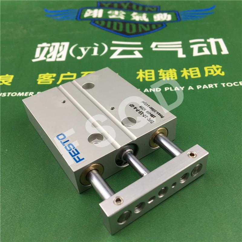 DFC-10-15-P-A-GF Festo miniature guide rod cylinder air cylinder air tools dpz 10 10 p a gf festo double rod piston cylinder
