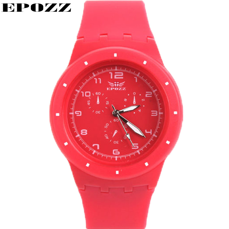 epozz ladies silicone sports watch girl quartz analog. Black Bedroom Furniture Sets. Home Design Ideas