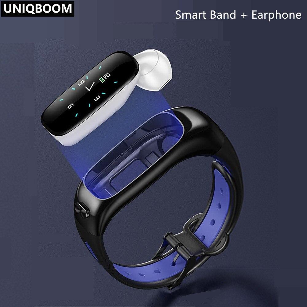 Smart Talk Band activité Fitness Tracker Bluetooth 5.0 Bracelet intelligent Sport bracelets appel écouteur bande tensiomètre