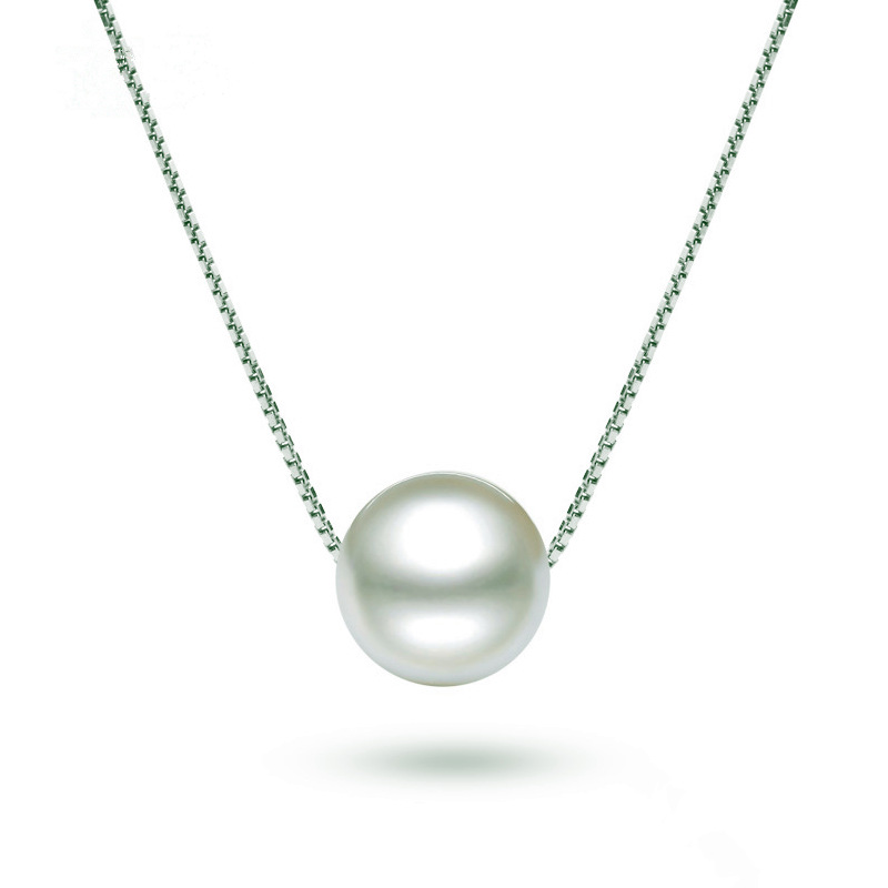 CHP19 woman fashion fine jewelry,simple and versatile pearl pendant.925 silver necklace for beloved girl