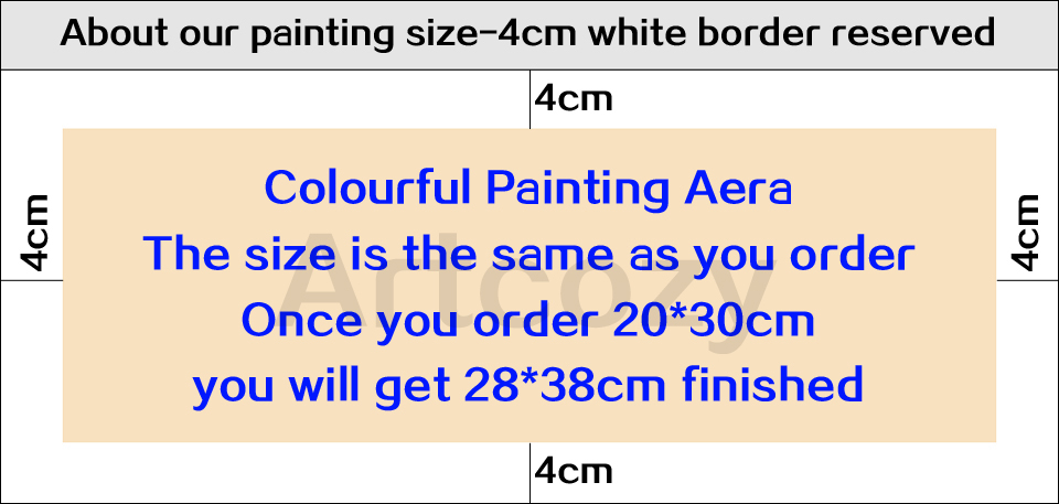Artcozy Waterproof Painting Spray Pringting Custom Print On Canvas Paintings Wall Art Poster Pictures For living Room Home Decor
