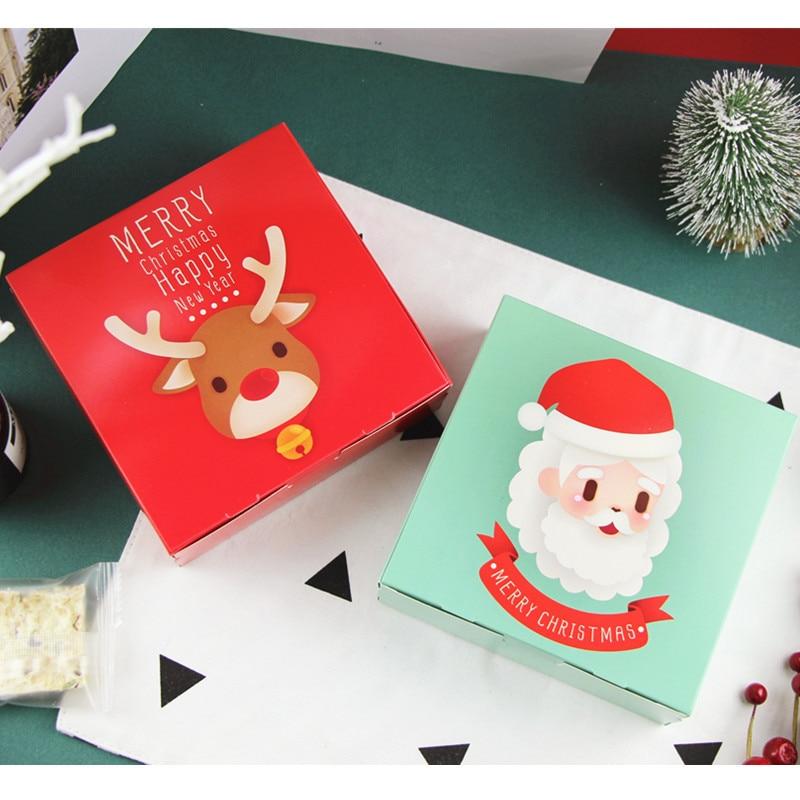 Wedding Gift Ideas For Kids: 30Pcs 14x14x5cm Elk Cookie Package Merry Christmas Santa