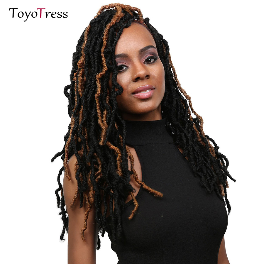 Hot Sale Toyotress Synthetic Hair Weave Nu Locs Curly Faux Locs ...