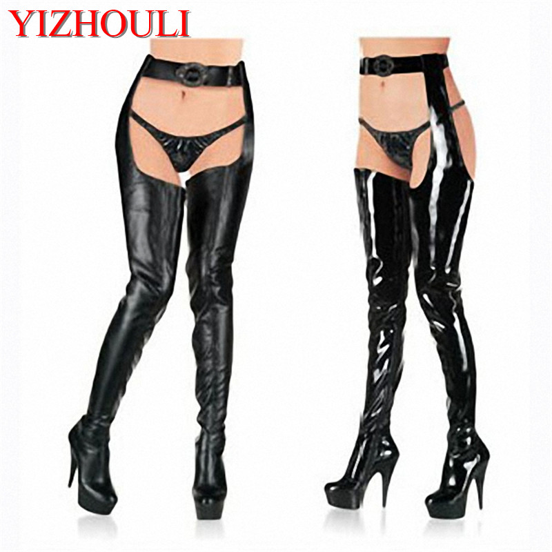6 inch Plus size shoes waist length boots ultra high heels shoes 15cm sexy shoes thigh