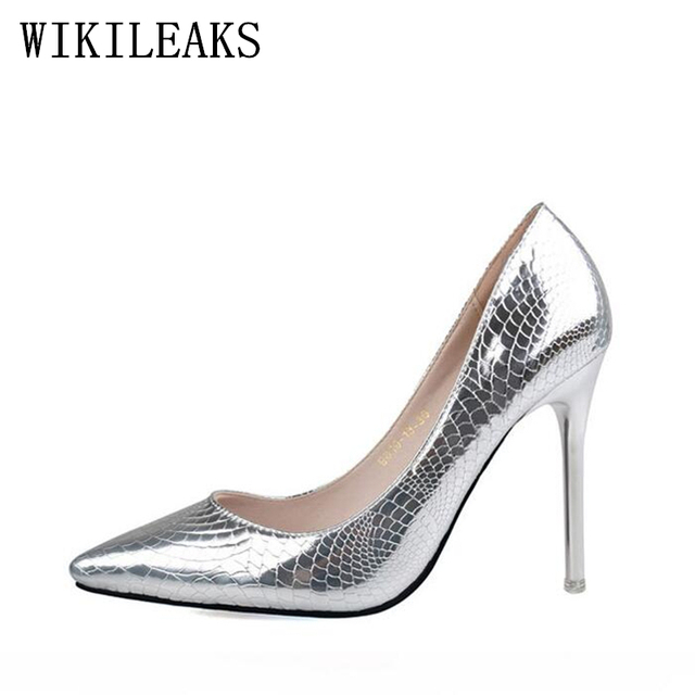 f5ec576961fd designer patent leather crocodile skin shoes woman pumps luxury brand  pointed toe red extreme high heels