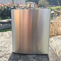 2pcs Lot Portable 18oz Stainless Steel Hip Flasks Liquor Whisky Alcohol Flask With Screw Cap