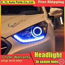 Стайлинг автомобиля фары для hyundai IX35 10-13 светодиодный фонарь для IX35 светодиодный фонарь дневного света светодиодный DRL биксеноновый HID