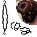 De Calidad superior!!! Mujeres de la manera Giro Magic Hair Styling Clip Palillo del Fabricante Del Bollo Herramienta Braid Negro Accesorios Para el Cabello