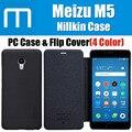 Meilan 5rd en stock es de nillkin original meizu m5 caja mate cubierta de la PC + PU del tirón con la caja al por menor 5.2 pulgadas M5 Mini CN1201