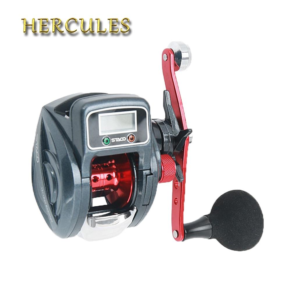 Hercules 13 1 BB 6 3 1 Fishing Reel Bait casting Reel Digital Reel Full Metal
