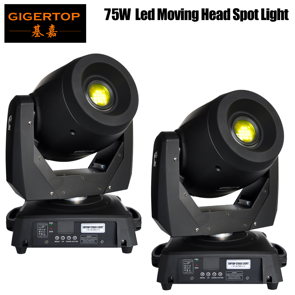 Freeshipping 2XLOT Concert Lighting 75W Led Gobo Moving Lights /Sharpy Beam Moving Head for Theater Party Disco DMX Controller