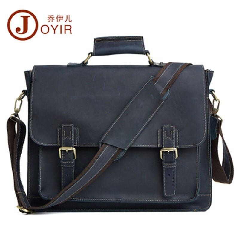 YISHEN Business Vintage Genuine Leather Men Briefcase Casual Male Handbags Shoulder Crossbody Bags Travel Messenger Bags QYRB515