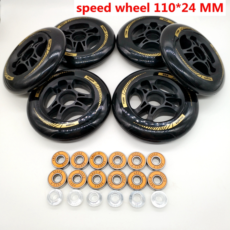 Free Shipping Speed Skates Wheels 90mm 100mm/110mm 85A High Respond High Duration Black Color