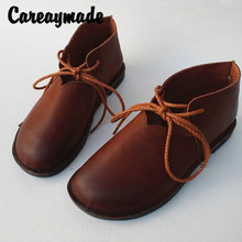 Careaymade-Retro style pure handmade Full Leather Womens Shoes,Soft Bottom Genuine Shoes,leisure Ankle Boots