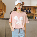 Kesebi 2017 Summer New Fashion Women Korean Cartoon Simple Printing T-shirts Female Casual Loose Short Sleeve Tops BMA130B#070