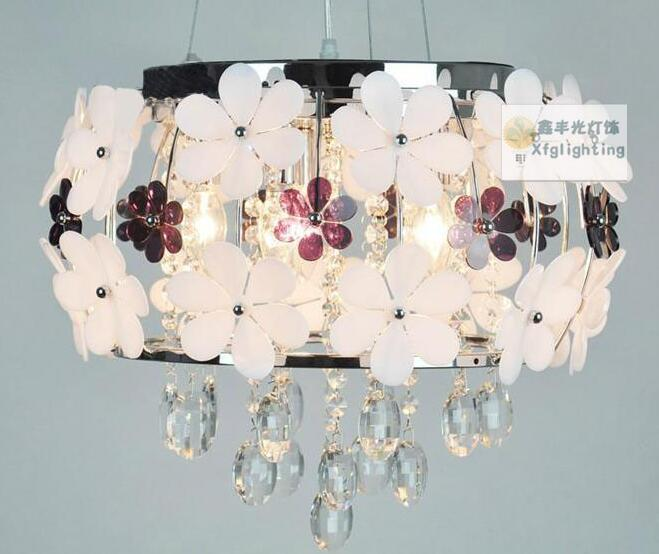 Twórczy wisiorki portfolio LED Kryształ Kwiat Restauracja Żyrandol m