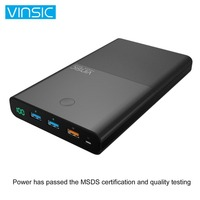 VINSIC 30000MAH Large Capacity Power Bank Mobile Phones Battery Charger Power Supply Phone Charger With QC3