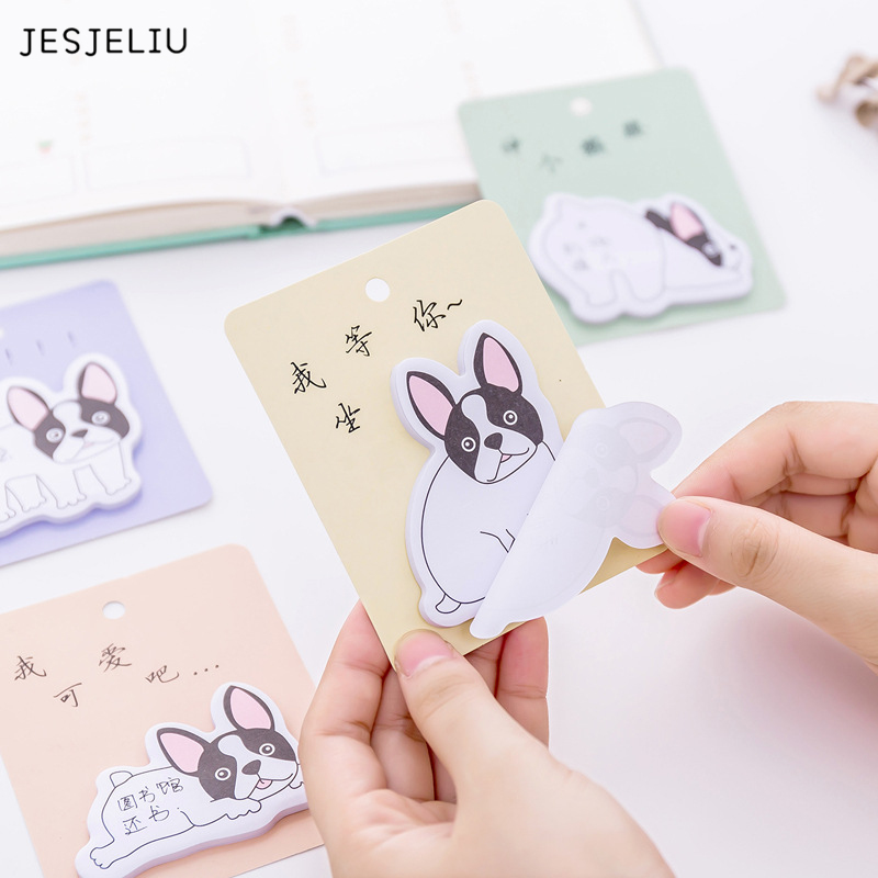 30 sheets/pc Creative Naughty Dog Memo Pad Paper Post-It Notes Sticky Notes Notepad Stationery Papeleria Office School Supplies