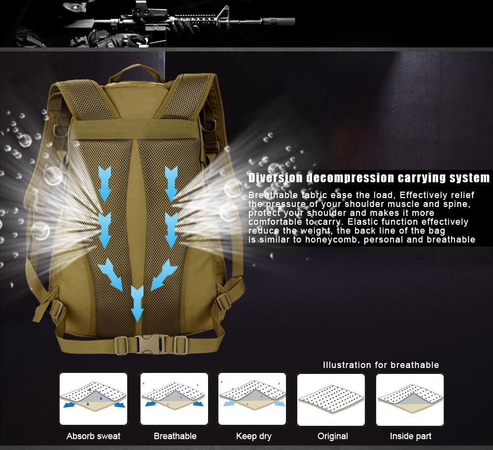 حقائب 35L كبير الجيش 5