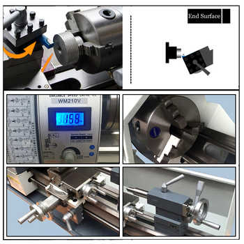750W 220V Brushless Motor Variable Speed Mini Lathe Machine Metal Lathe for Metalworking Stainless Steel Processing Full CE