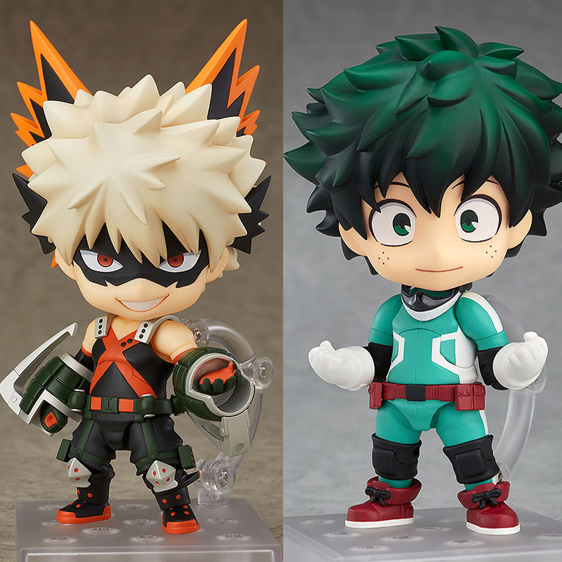 Anime My Hero Academia Nendoroid 705 Bakugou Katsuki & 686 MIDORIYA  IZUKU PVC Action Fiugre Collection Model Toys Boy Gift