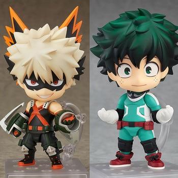 Anime mon héros académique Nendoroid 705 bakugou katsuki & 686 MIDORIYA IZUKU PVC action fiugre collection modèle jouets garçon cadeau